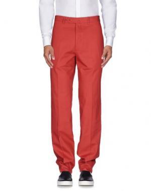 Повседневные брюки AQUASCUTUM. Цвет: красный