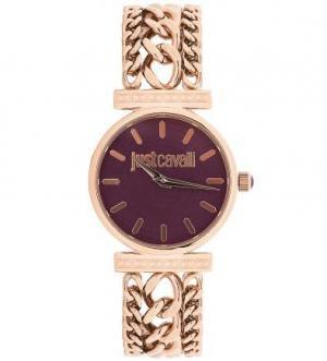 Часы с циферблатом фиолетового цвета Just Cavalli