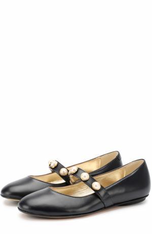 Кожаные туфли с жемчужинами Missouri. Цвет: синий