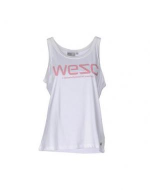 Майка WESC. Цвет: белый