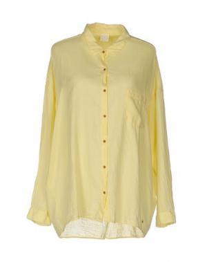 Pубашка DES PETITS HAUTS. Цвет: желтый