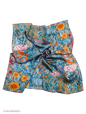 Платок Piero. Цвет: серо-голубой, коралловый, светло-коричневый, темно-красный
