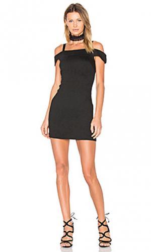 Платье со спущенными плечами alex Greylin. Цвет: черный