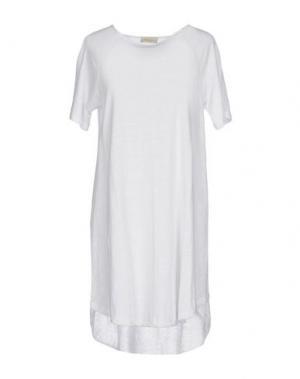 Короткое платье BRUNO MANETTI. Цвет: белый
