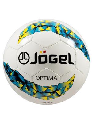 Мяч футзальный Jоgel JF-400 Optima №4 Jogel. Цвет: лазурный, желтый, белый, черный