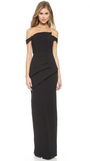Вечернее платье Eve La Reina Black Halo. Цвет: голубой