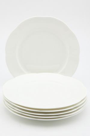 Набор 6 тарелок 21,5см Royal Bone China. Цвет: белый