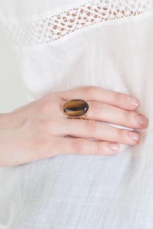 Кольцо из меди IMAI by Julie Borgeaud. Цвет: золотой, янтарный