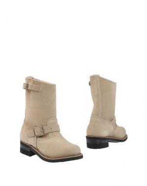 Полусапоги и высокие ботинки WALKER. Цвет: бежевый