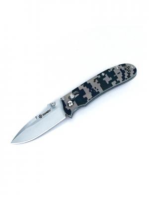 Нож Ganzo G704. Цвет: зеленый, светло-зеленый, черный