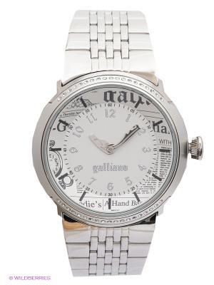 Часы Galliano. Цвет: серебристый