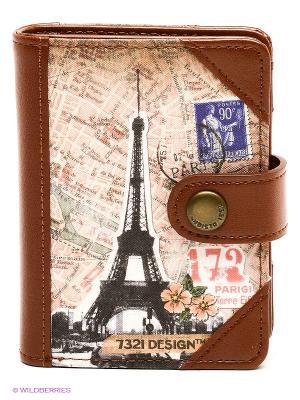 Кошелек 1900s style Paris Kawaii Factory. Цвет: коричневый