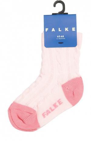 Носки из эластичного хлопка Falke. Цвет: розовый