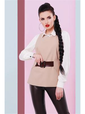 Жилеты Fashion Up. Цвет: бежевый