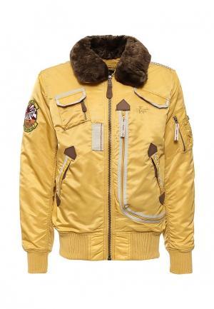 Куртка утепленная Alpha Industries. Цвет: желтый
