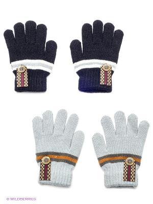 Перчатки, 2 пары FOMAS. Цвет: синий, серый