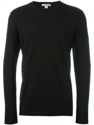 Вязаный свитер James Perse. Цвет: чёрный