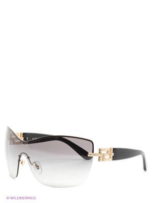 Очки солнцезащитные Versace. Цвет: коричневый, черный