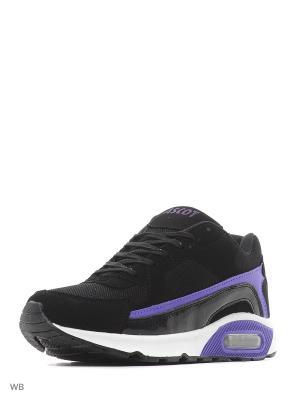 Кроссовки Ascot. Цвет: черный, фиолетовый