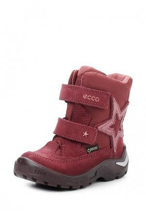 Ботинки SNOWRIDE Ecco. Цвет: бордовый