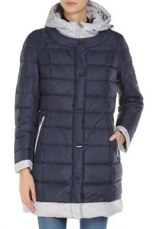Полуприлегающее пальто с 2-мя карманами Vlasta. Цвет: 3131 синий