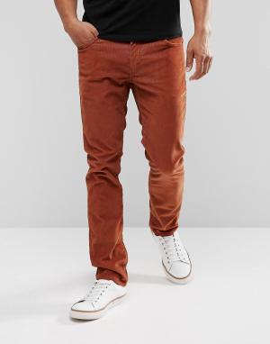 Levis Узкие вельветовые джинсы насыщенного коричневого цвета 511. Цвет: коричневый