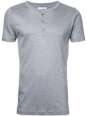 Рубашка с воротником на пуговицах Estnation. Цвет: серый