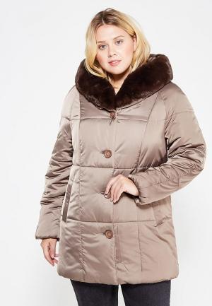 Куртка утепленная Montserrat. Цвет: коричневый