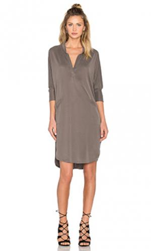 Платье-рубашка baja sen. Цвет: серый