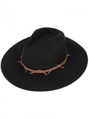Классическая широкополая шляпа Sensi Studio. Цвет: чёрный