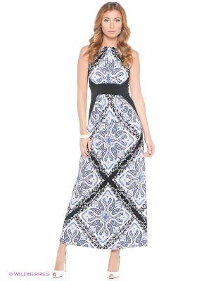 Платье London Times. Цвет: синий, белый, черный