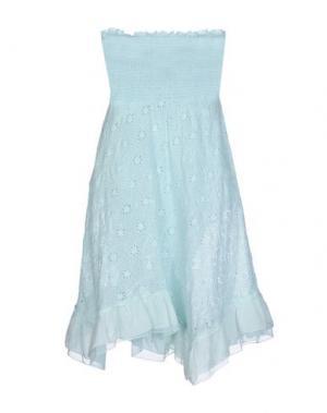 Короткое платье TEMPTATION. Цвет: бирюзовый