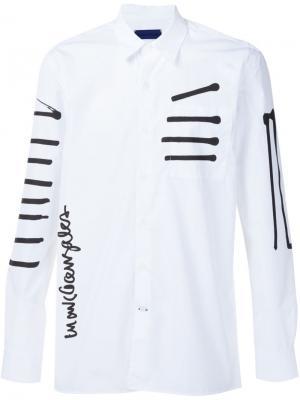 Рубашка с принтом  x Mark Gonzales Études. Цвет: белый