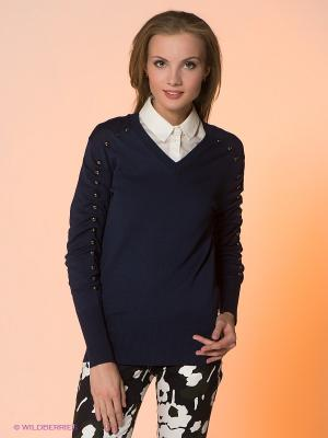 Пуловер Viaggio. Цвет: темно-синий