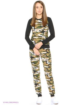 Спортивный костюм NAGOTEX. Цвет: хаки, темно-зеленый