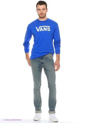 Футболка с длинным рукавом VANS. Цвет: синий