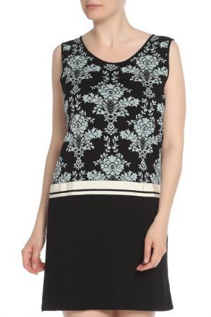 Платье с принтом Marella. Цвет: черный, принт