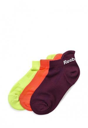 Комплект носков 3 пары Reebok. Цвет: разноцветный