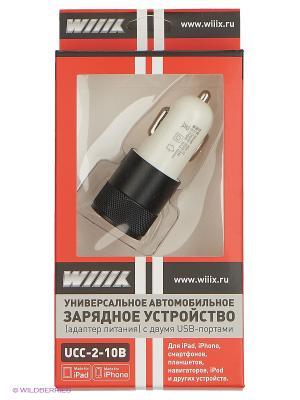 Зарядное устройство с двумя USB входами  UCC-2-10B WIIIX. Цвет: черный