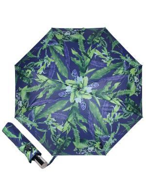 Зонт складной M&P. Цвет: темно-синий, белый, светло-зеленый