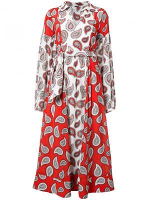 Платье-макси с узором пейсли Dodo Bar Or. Цвет: белый