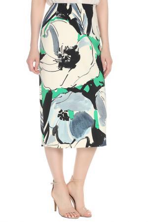 Юбка Liviana Conti. Цвет: бело-черно-зеленый