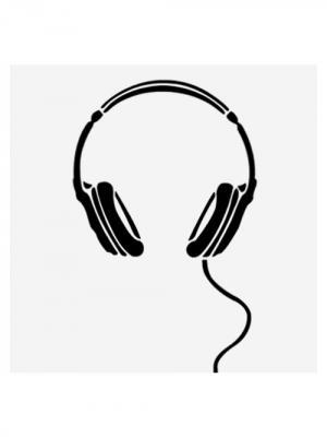 Наклейка для Macbook Air / Pro Headphones (13 дюймов (диагональ экрана)) Kawaii Factory. Цвет: черный