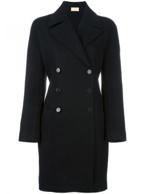 Двубортное пальто Alaïa Vintage. Цвет: чёрный