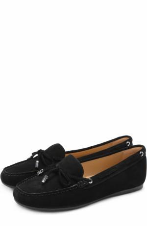 Замшевые мокасины Sutton на шнуровке MICHAEL Kors. Цвет: черный
