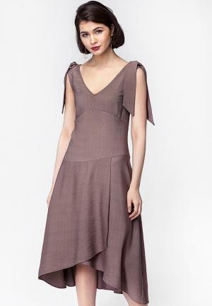 Платье Vilatte. Цвет: бежевый