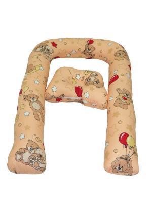 Подушка детская Беби-дом SMART-TEXTILE. Цвет: бежевый