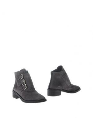 Полусапоги и высокие ботинки REBECA SANVER. Цвет: серый