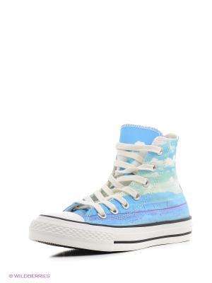 Кеды Converse. Цвет: белый, голубой