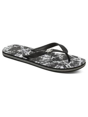 Шлепанцы DC Shoes. Цвет: черный, коричневый